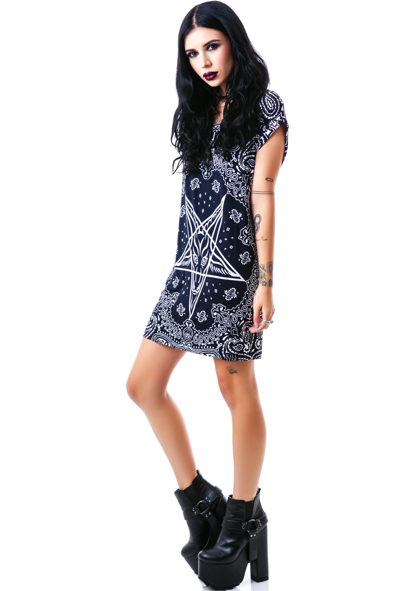 Killstar Bandana Tunic Dress