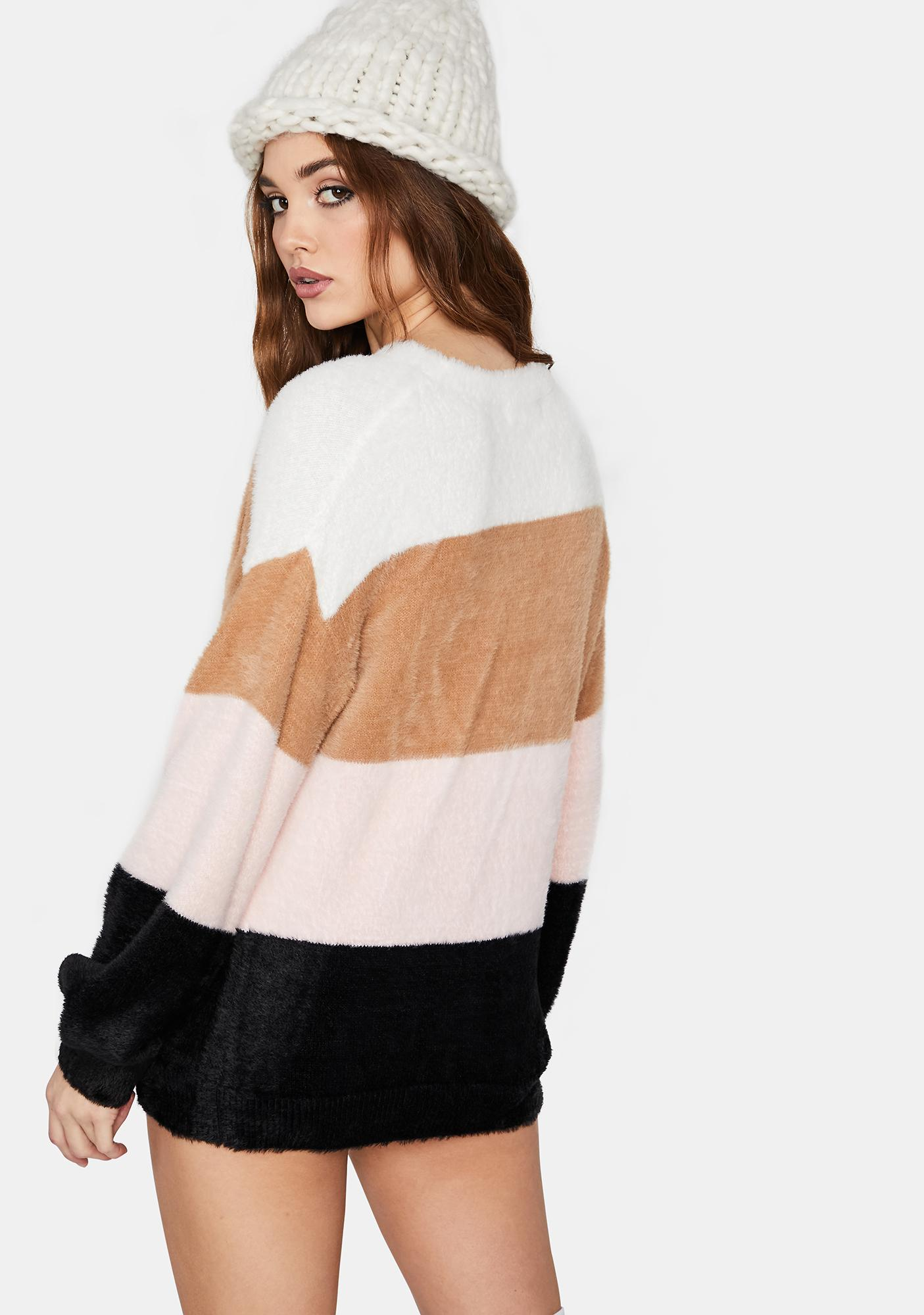 Mountain Tamer Sherpa Striped Sweater