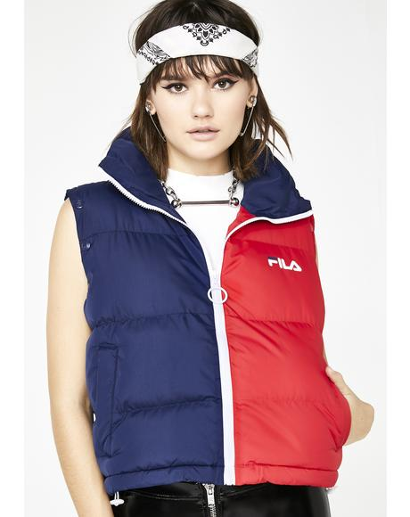Martina Snap Off Sleeve Crop Puffer