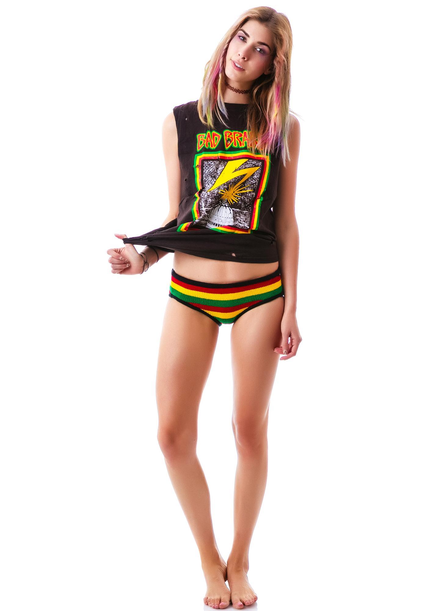 Knitty Kitty Rasta Reggae Panty