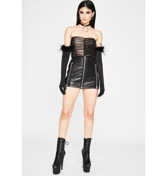 Night Shocking Highs Ruched Bodysuit