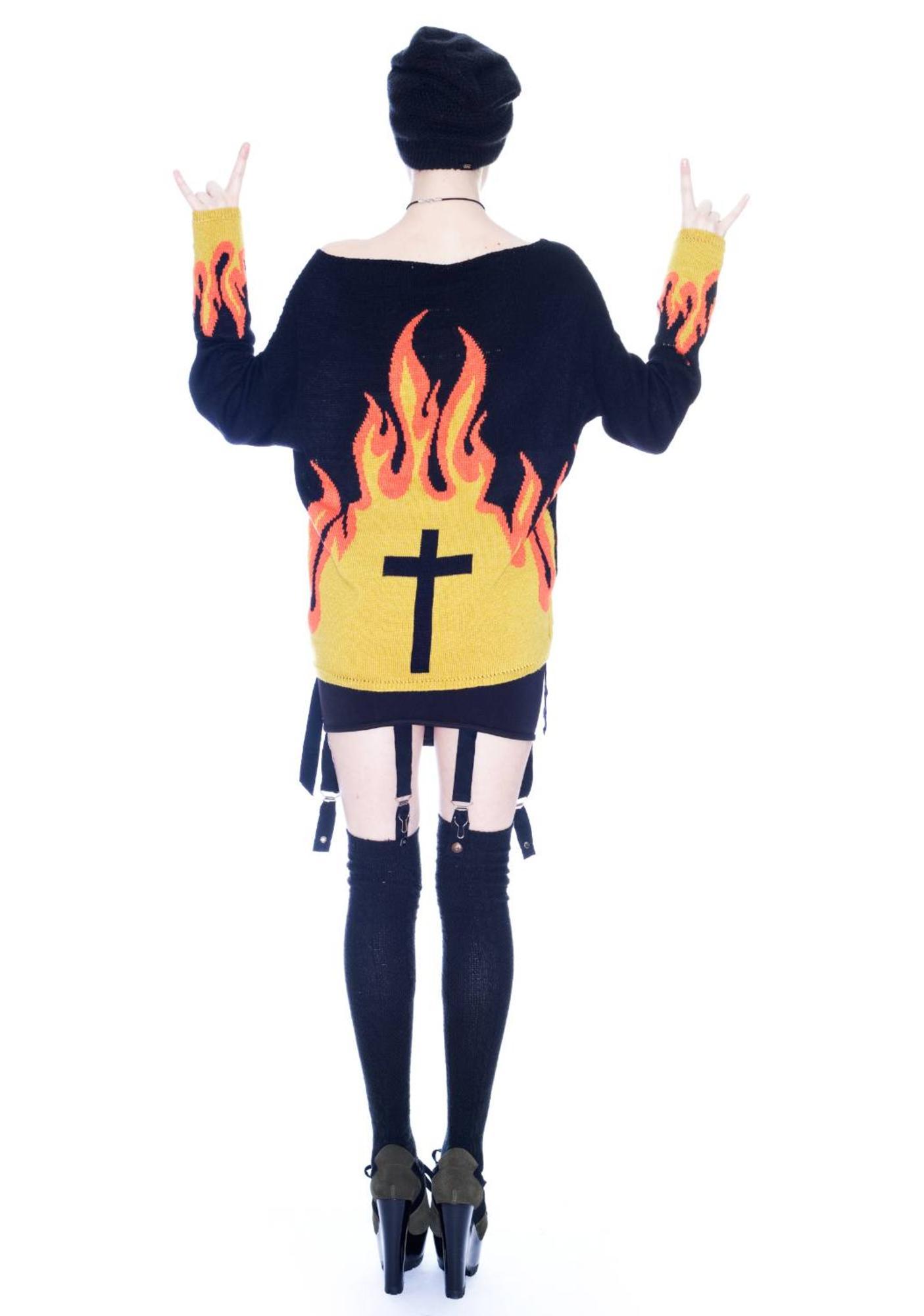 UNIF Turn Or Burn Sweater