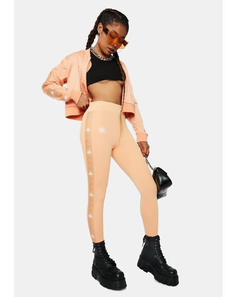 Peach Pink 222 Banda Bartes Sport Leggings