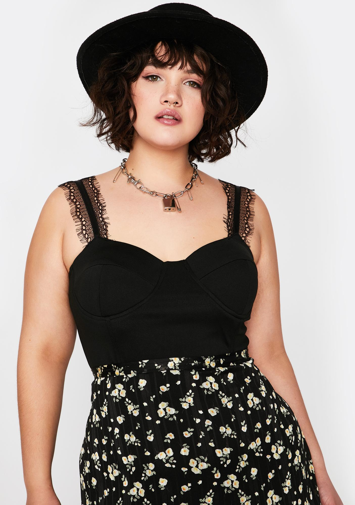 Pause Baddie Moment Bustier Top