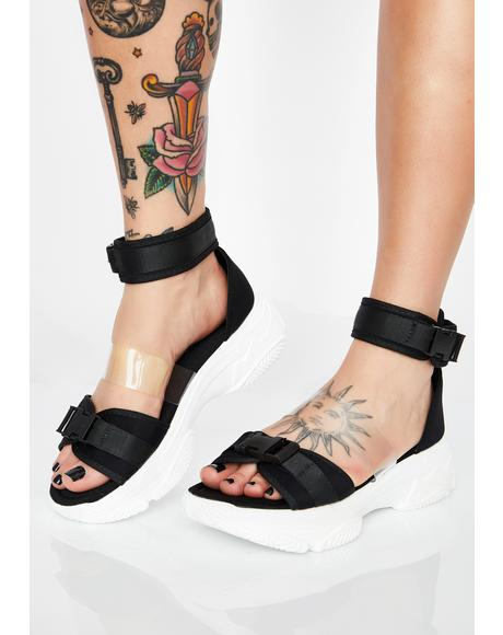 Noir So Fresh N' Clean Platform Sandals