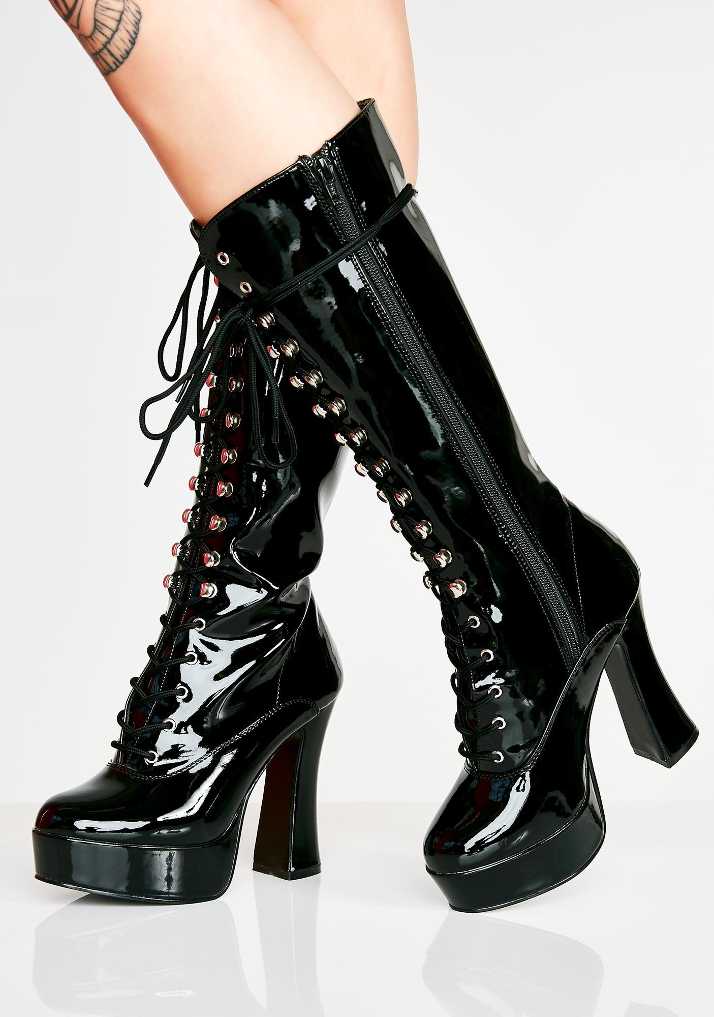 Pleaser Hundreds Only Exotica Platform Boots