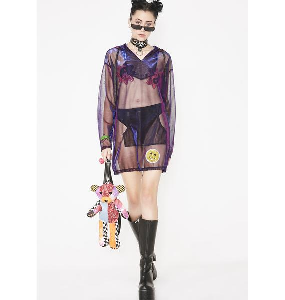 Current Mood Deadly Nightshade Iridescent Parka