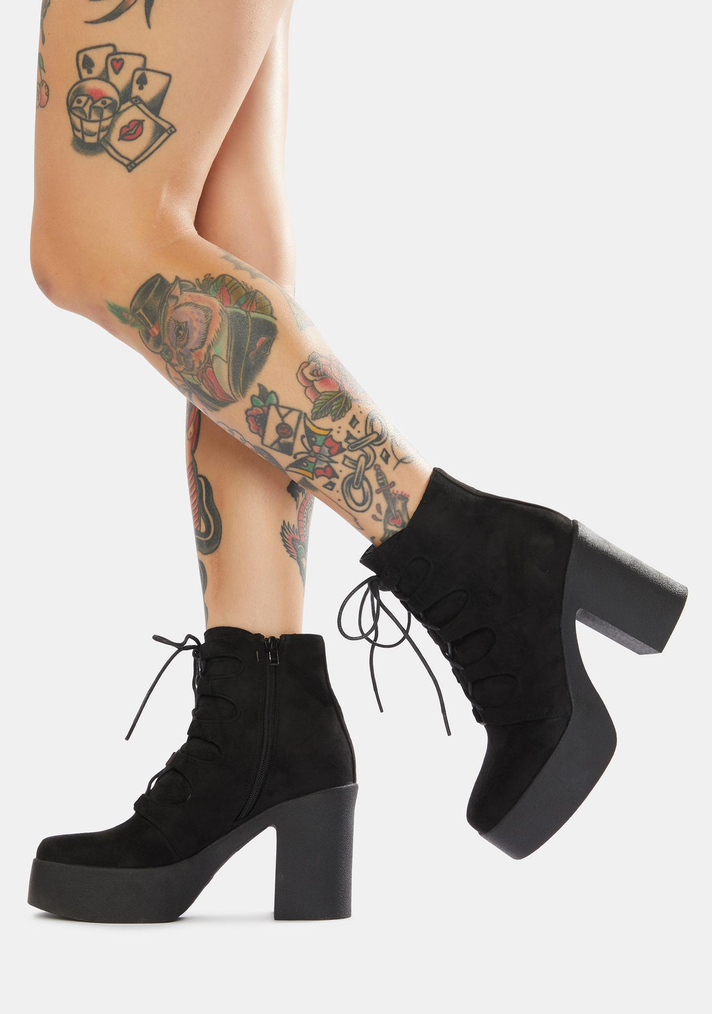 Lamoda Music In Me Platform Lace Up Boots