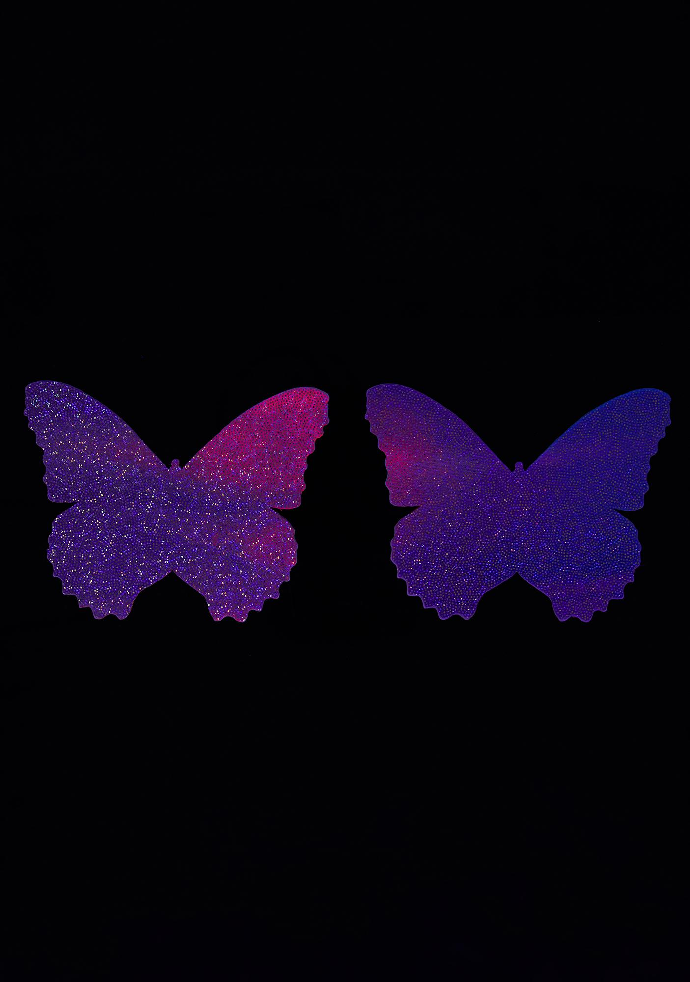 Neva Nude Pastel UV Butterfly Pasties