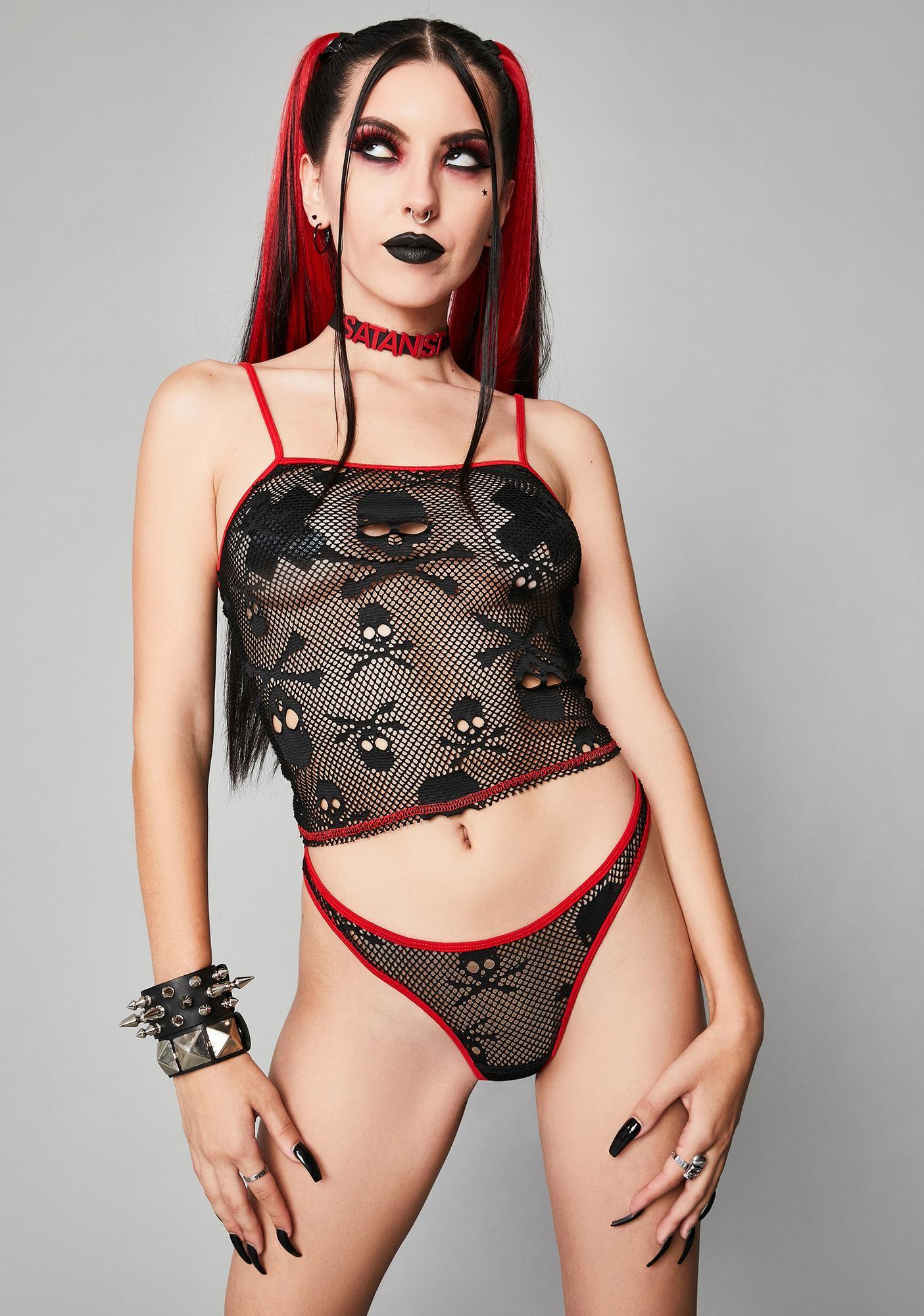Widow Sweet Revenge Fishnet Lingerie Set