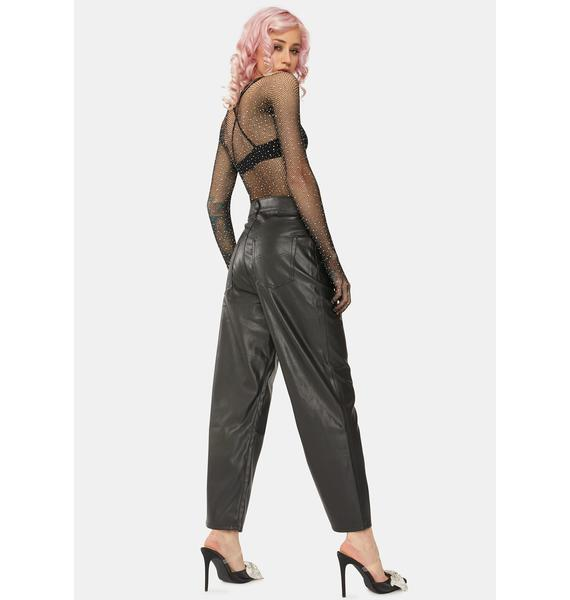 Levis Night Faux Leather Ribcage Pants