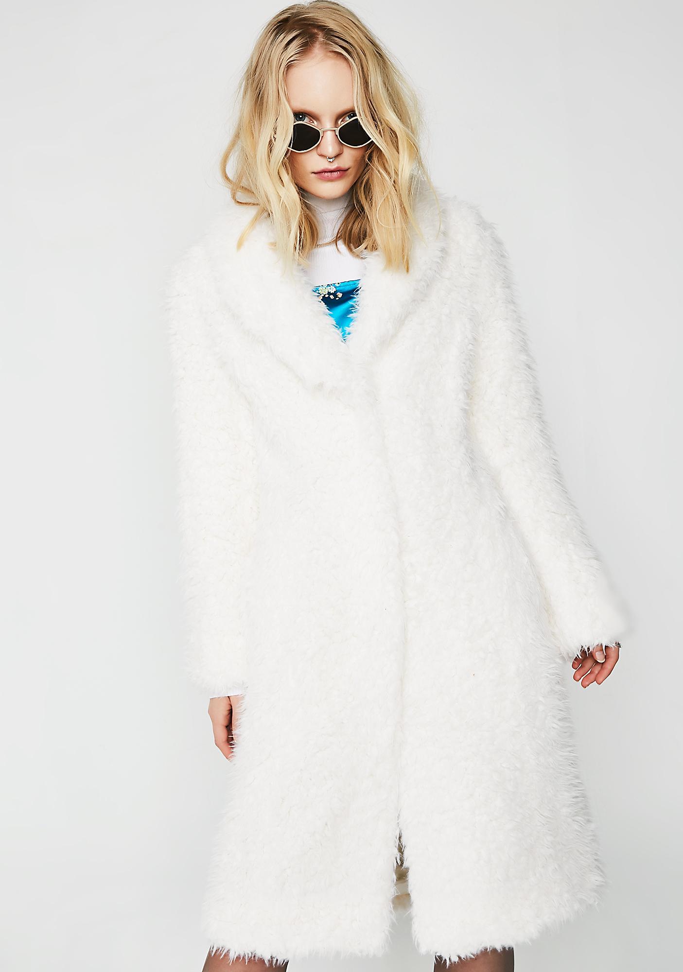 Unreal Fur De La Cream Coat