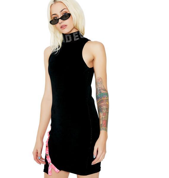 Jaded London Jaded Velour Mini Dress