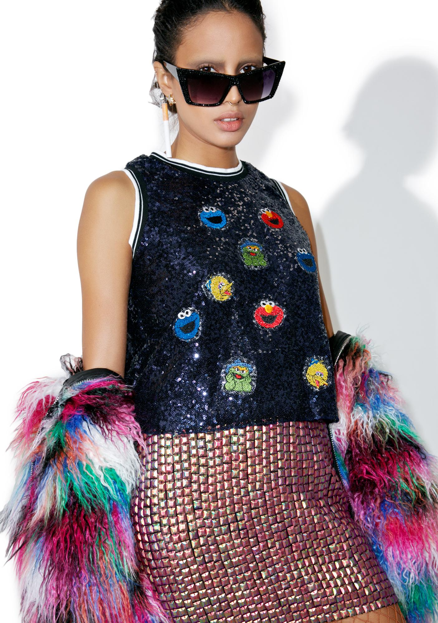 Evil Gang's All Here Sequin Tank