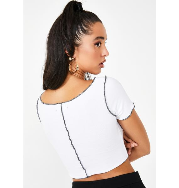 Poster Grl Brat Pack Lace Up Tee