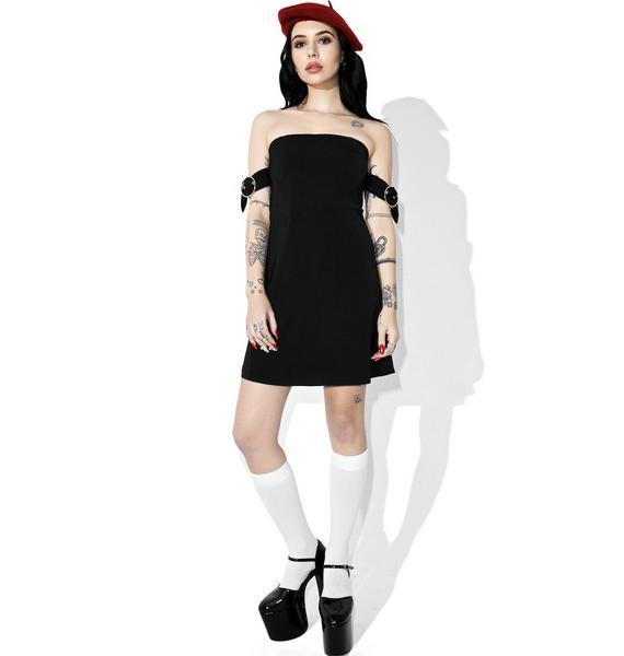 Black Heart Off-Shoulder Dress