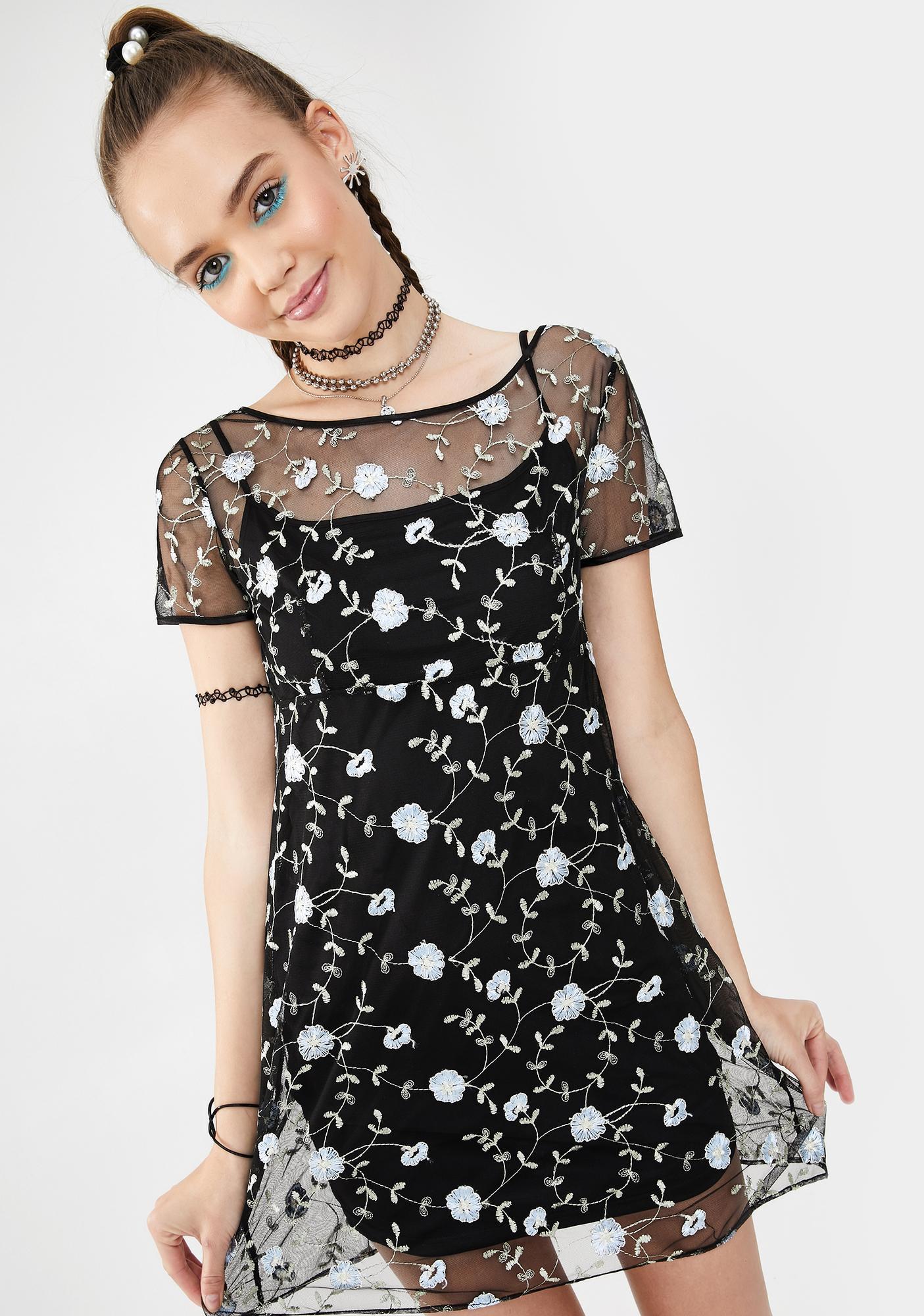 dELiA*s by Dolls Kill Trust Fall Floral Dress