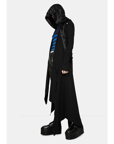 Long Hooded D-Ring Coat