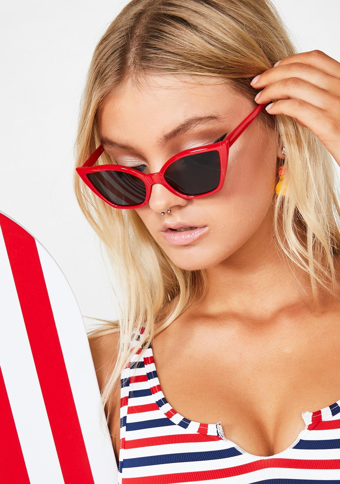 Replay Vintage Sunglasses Red Hot Cat-Eye Sunglasses