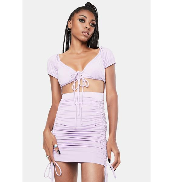 Lavender Livid Dreamer Mini Dress