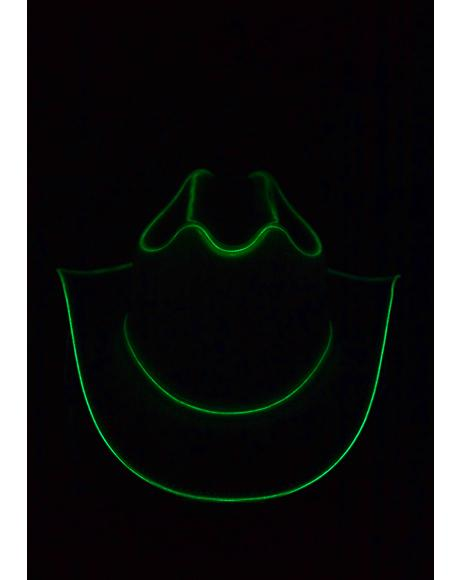 Emerald Green Light Up Cowboy Hat