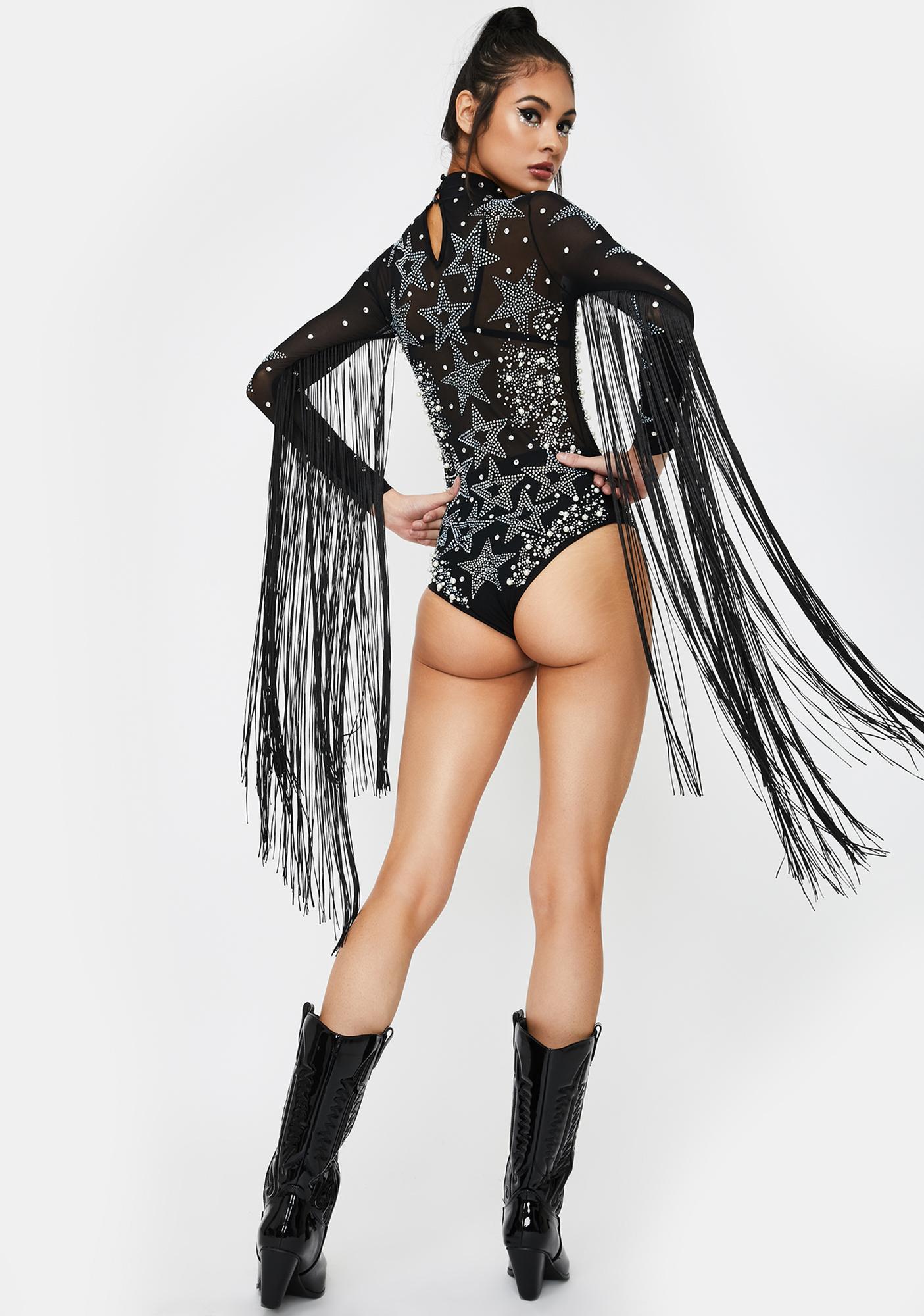 Kiki Riki Starlet Aura Fringe Bodysuit