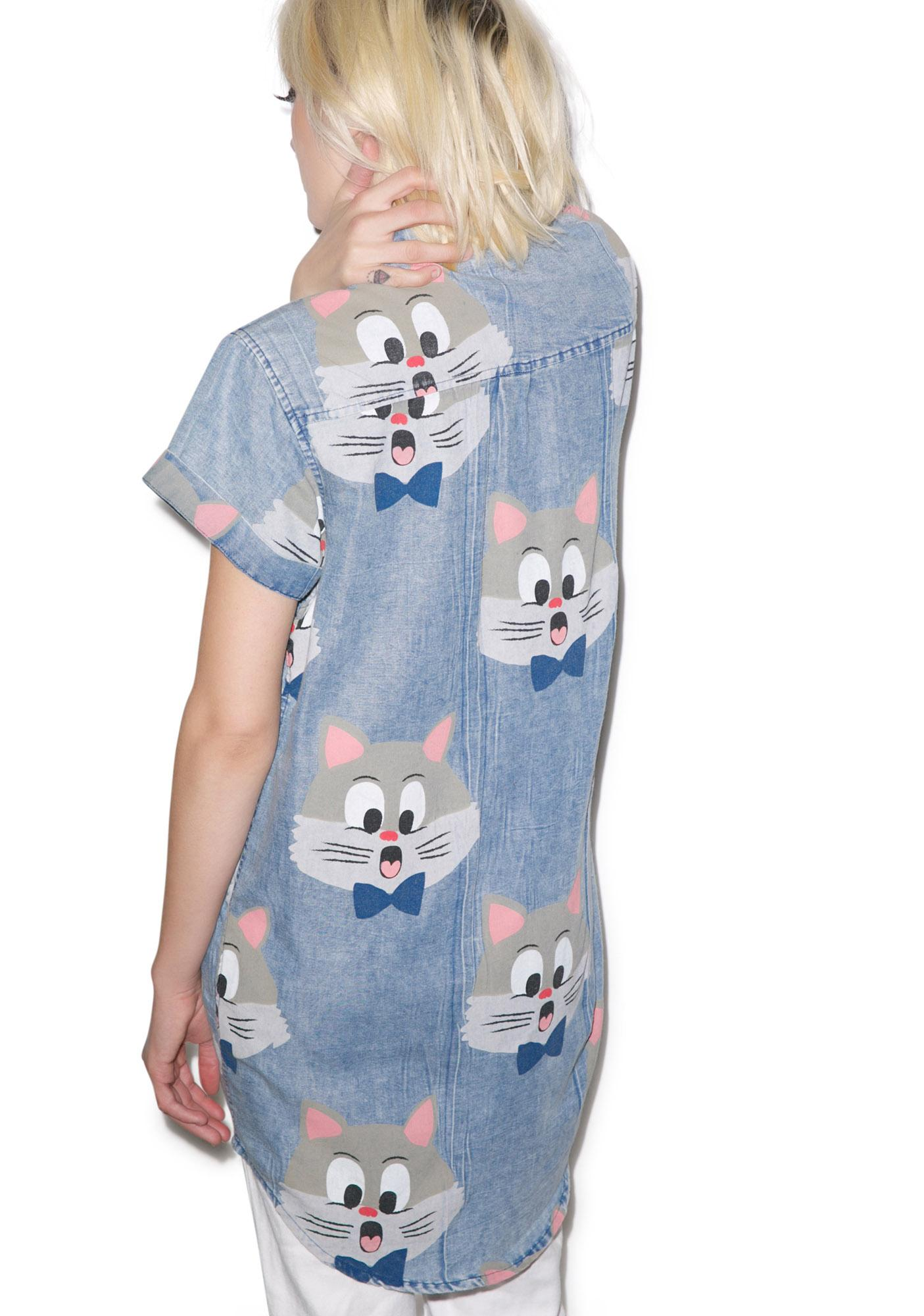 Lazy Oaf Kit Katty Short Sleeve Shirt