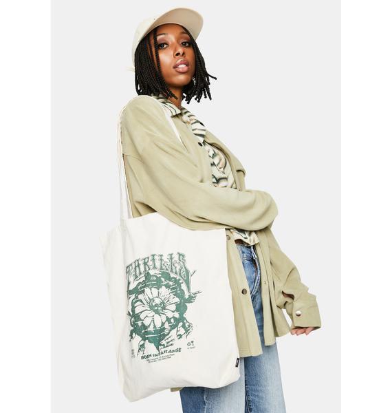 THRILLS Unbleached Psychflower Tote Bag