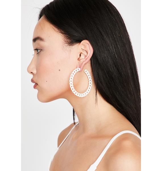 Chainz N' Thangz Hoop Earrings