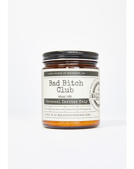 Bad Bitch Club Lemon Drop Martini Candle