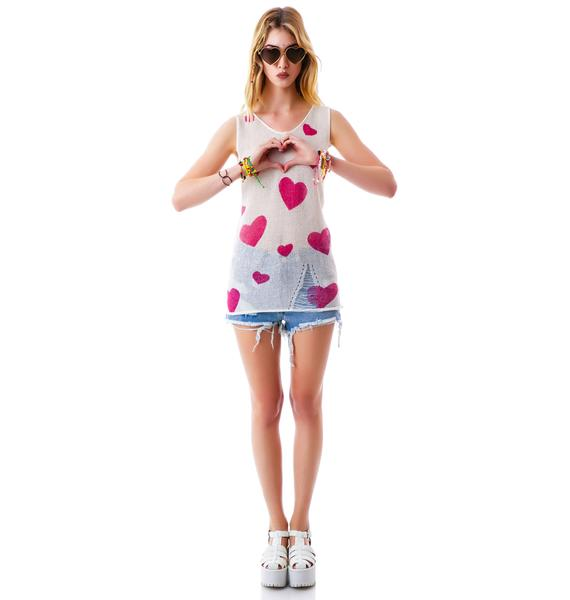 Tearing Up My Heart Knit Tank