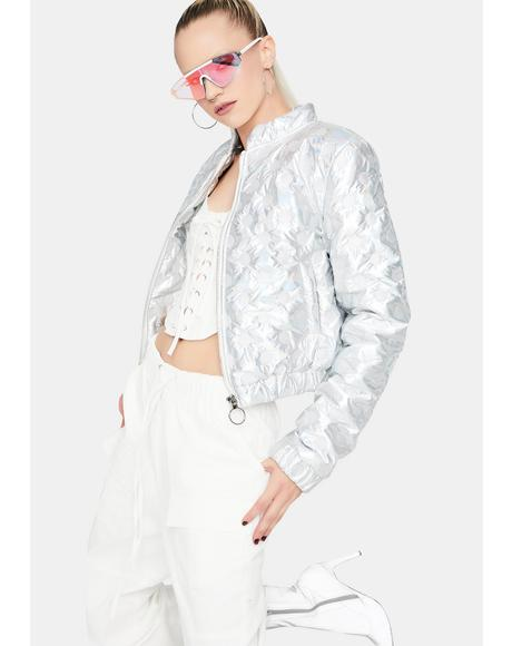 Funky Future Holographic Bomber Jacket