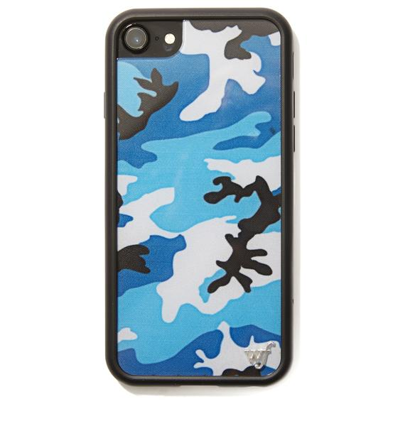 Wildflower Blue Camo IPhone Case