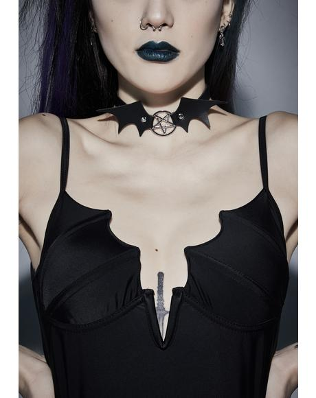 Call Me Batty Pentagram Choker