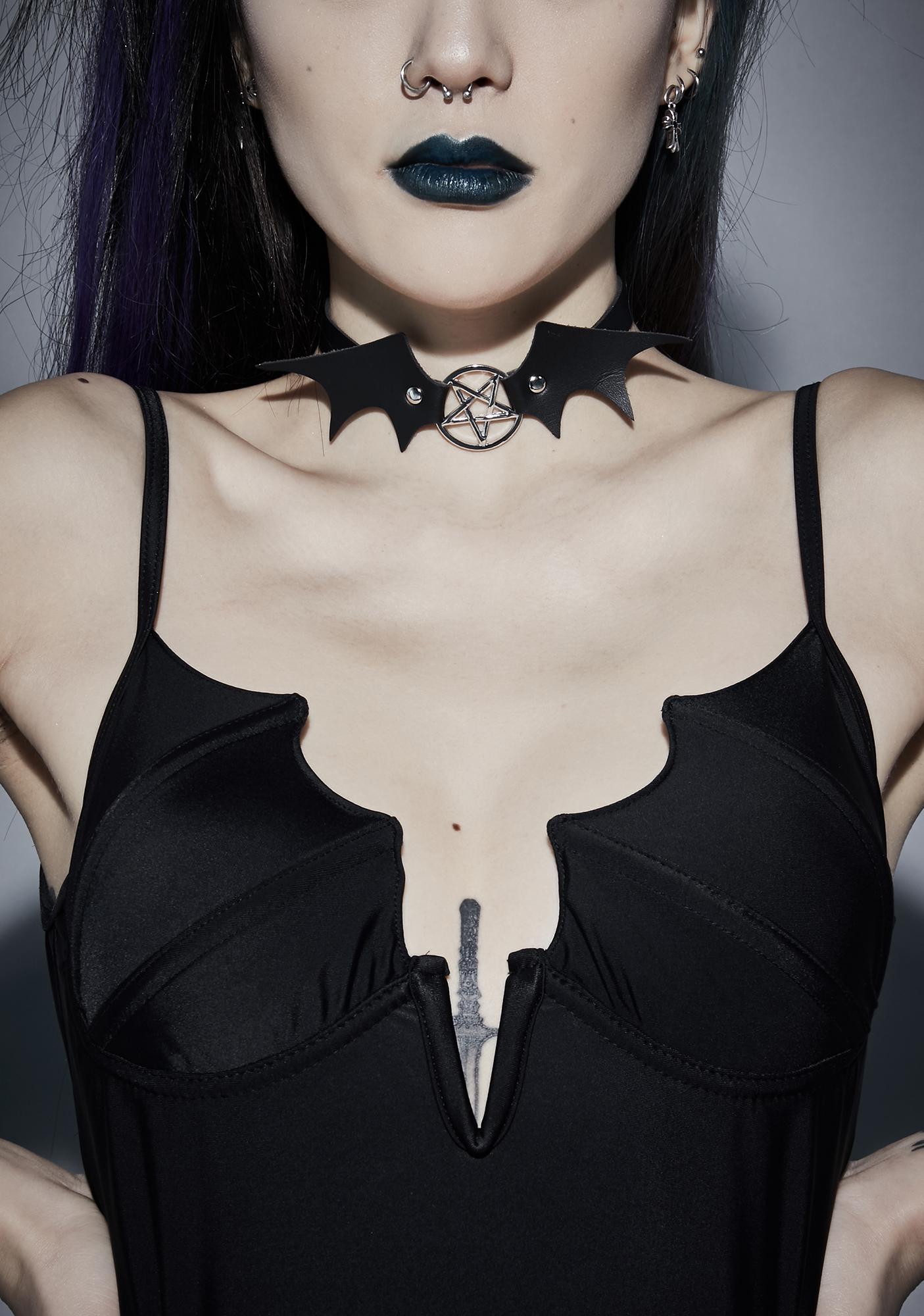 Call Me Batty Pentagram Choker