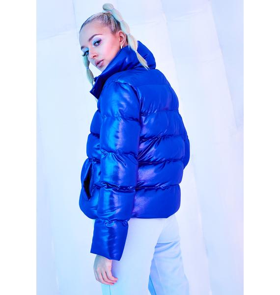 Club Exx Ambient Avalanche Metallic Puffer Jacket