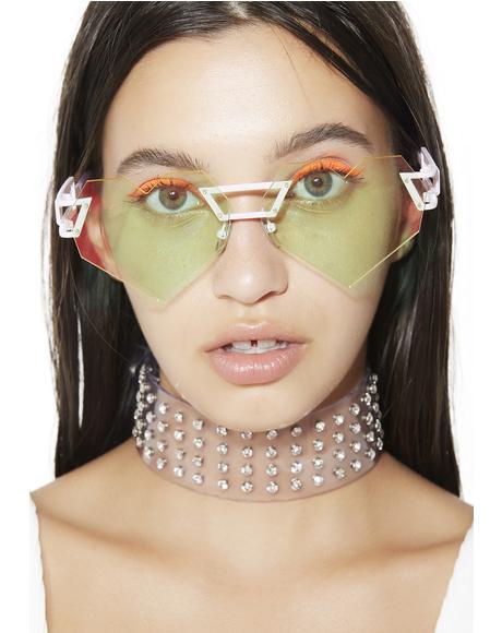 Hologram Heart Speqz Sunglasses