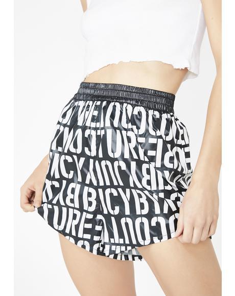 Stencil Juicy Logo Shorts
