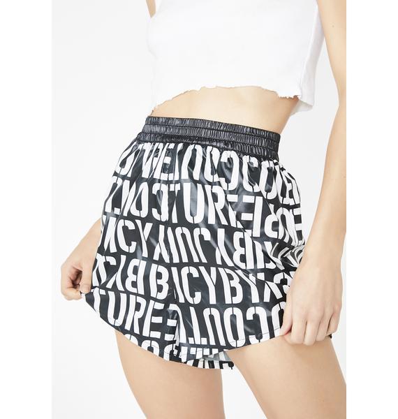 JUICY COUTURE Stencil Juicy Logo Shorts