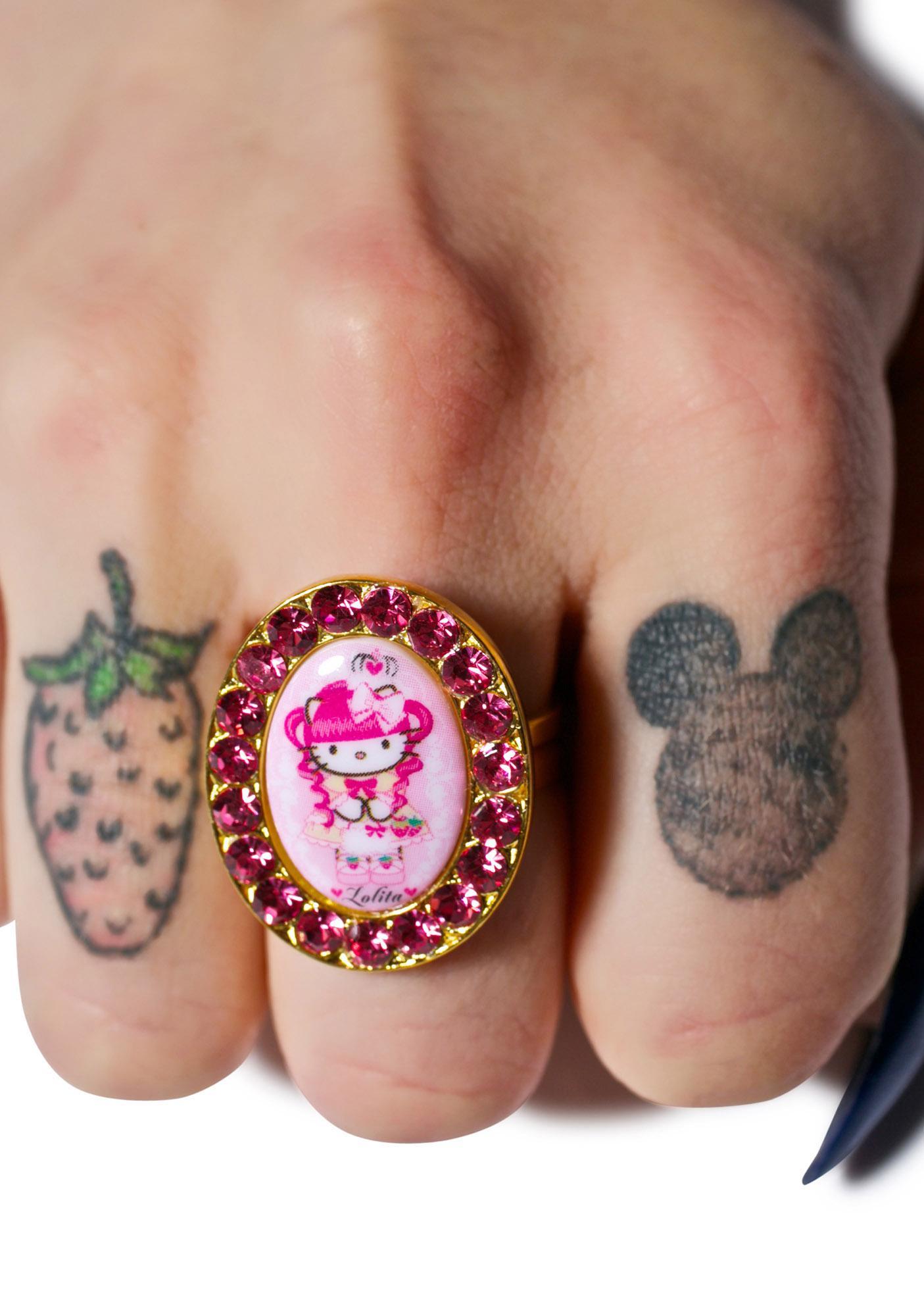 Tarina Tarantino Crystal Framed Gothic Lolita Head Ring
