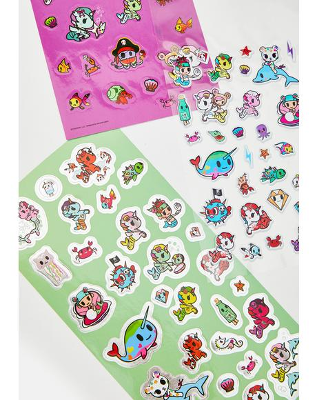 Mermicorno Sticker Sheets
