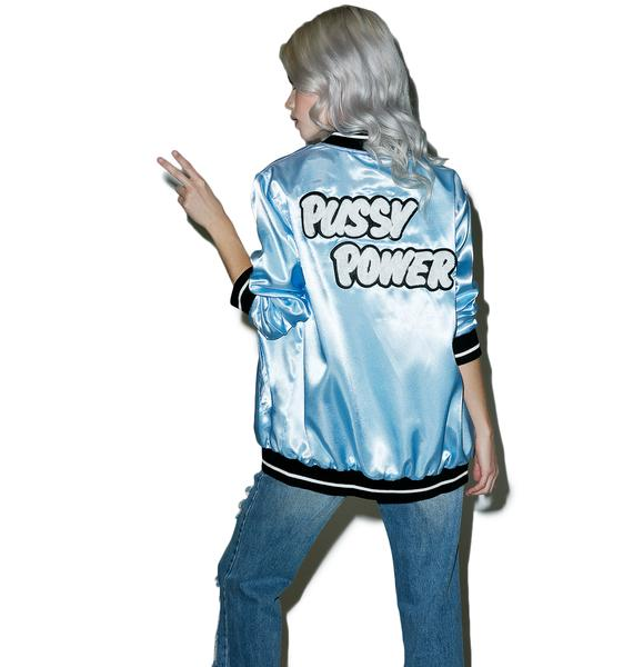 Local Heroes Pussy Power Satin Bomber Jacket