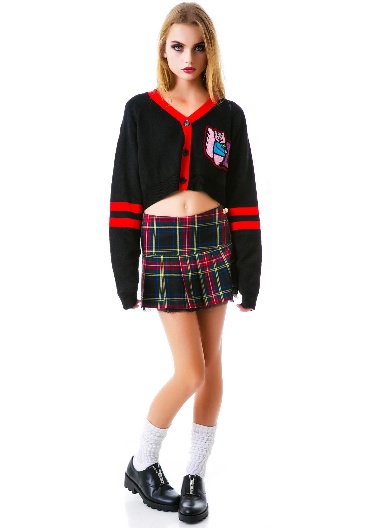 Lazy Oaf Preppy Crop Cardigan