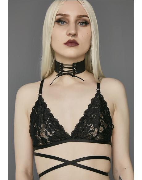 Silent Heart Wrap Lace Bra