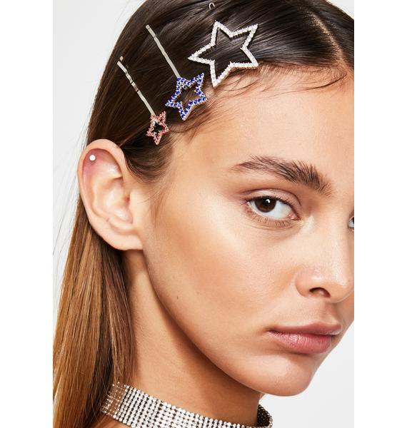 Country Star Hair Pins