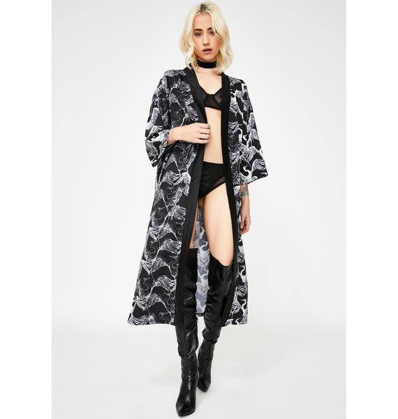 Give U Life Midi Kimono