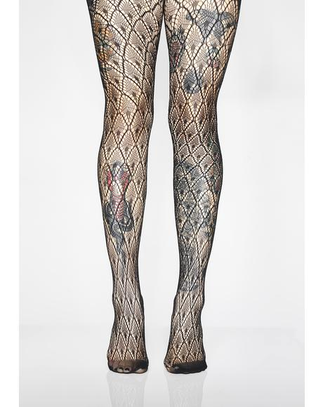 Devil's Desire Lace Tights