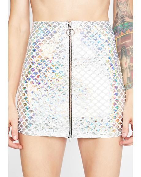 Angelic Mermaid Holographic Skirt