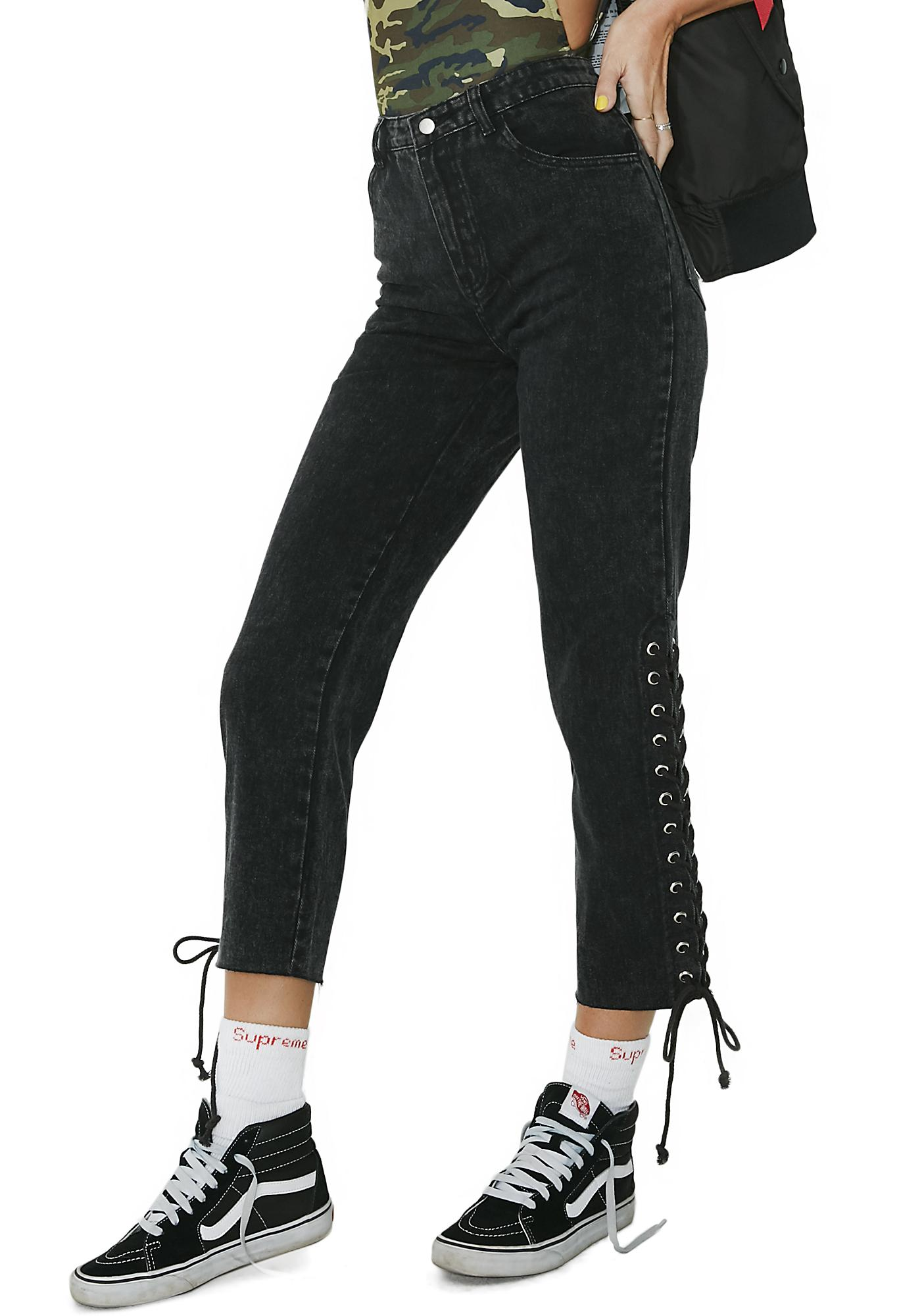 Peggy Lace-Up Jeans