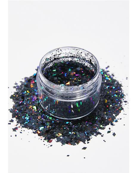 Black Diamond Face Glitter
